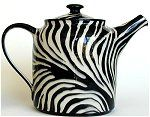 Zebra Stripe Teapot and Mugs