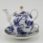 Elizabeth Rose Tea for One (blue)