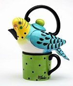 Blue Parakeet Tea For One