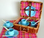 Blue Enamel Tea Set