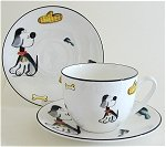 Tall Dog  Jumbo Tea Cup