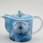 Sea Otter Teapot and Mug