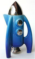 Rocket Teapot Blue