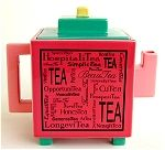 Red Pink and Green Teapot