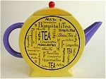 Round Yellow Teapot