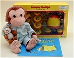 Curious George Pajamas w/Teaset and Camping Book