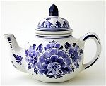 Russian Blue and White Teapot