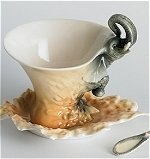 Elephant Cup and Saucer with Spoon