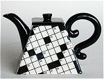 Crossword Puzzle Teapot