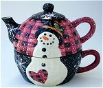 Midnight SNowman Tea For One