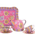 Musical Teapot Tin Tea Set for 4