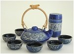 Blue Round Tea Set