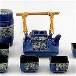 Blue Square Tea Set