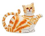 Orange Cat Teapot