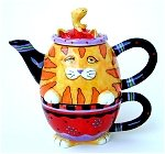 Orange Cat  Tea For One
