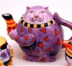 Colorful Cat Teapot