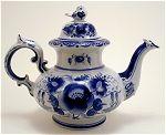 Gzhel Russian Sparrow Teapot