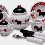 Scottie Dog Childrens Tea Set