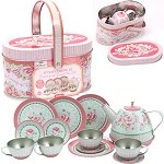 Roses Tin Tea set