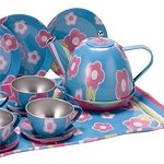 Blue Floral Tin Tea set