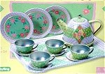 Green Tin Tea set