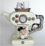 Cream Espresso  Teapot