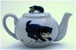 Cat Teapot with Cat Mug
